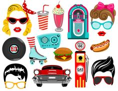 Fifties digital photo booth props Instant by LUCIOUSMAXIMUS