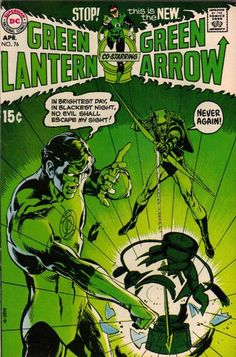 Green Lantern/Green Arrow #76 (1970) Neal Adams, comic book