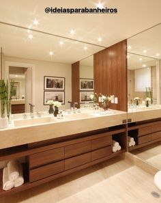 double mirror bathroom