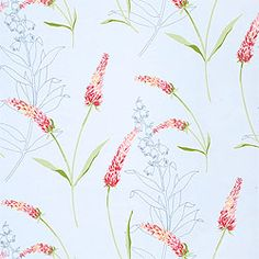 Lavender Wallpaper by Naken Interiors. also in white background with lavender blooms so more realistic.
