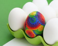 Rainbow Easter Egg in Polymer Clay Filigree