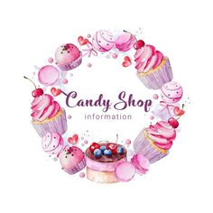 Design Logo Cake Ideas 63 Ideas For 2019 Logo Dulce, Logo Online Shop, Cupcake Logo, Cupcake Icon, Pastries Images, Diy Clothes Design, Cake Logo Design, Florist Logo, Bakery Logo
