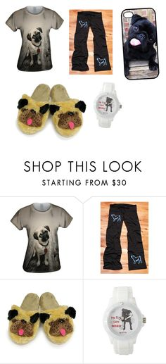 """#puglife"" by emily-whelchel ❤ liked on Polyvore"