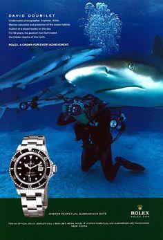 David Doubilet wearing his Rolex Submariner