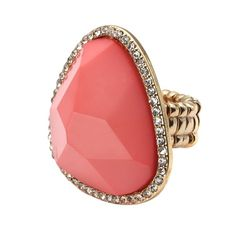 Large Pink Stone Stretch Ring!! #inspiredsilver #jewelrysale #jewelry