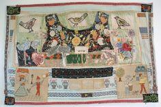 'Greek Dress Apron', Anne Kelly, mixed media textile