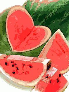 'Art Wassermelone' von Dirk h. Wendt bei artflakes.com als Poster oder Kunstdruck $18.03