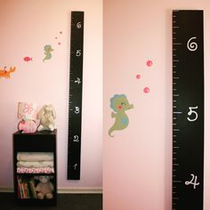 DIY Over Sized Ruler Growth Chart - Create your own over sized ruler growth chart! Tutorial and Free growth chart stencil SVG. Growth Chart Ruler, Growth Charts, Outside Room, Free Stencils, Playroom, Create Your Own, Kids Room, Cricut, How To Make