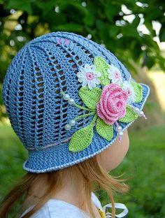 AS RECEITAS DE CROCHÊ: Chapéu de menina PAP