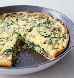 Frittata with Turkey, Sausage and Arugula
