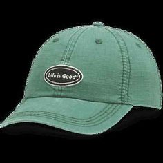 LIFE IS GOOD Adult Ripstop Chill Cap Baseball Hat LIG Oval HUNTER GREEN NWT!