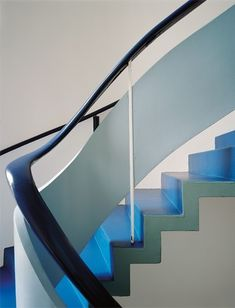 A Bauhaus inspired staircase detail from Villa Kenwin by German architect Hermann Hensel and Hungarian architect Alexander Ferenczy. Complet...
