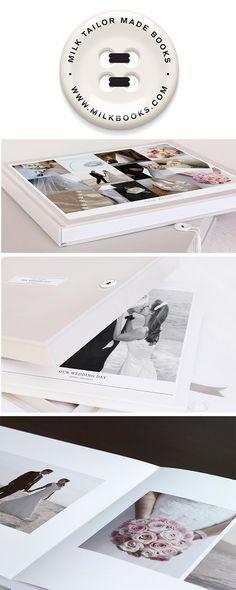 Create a custom-made #wedding album with @milkbooks
