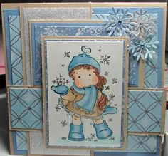 Snowflake Tilda from Magnolia Stamps.  I'm real proud of this one as it won the Christmas Challenge Sketch Blog back in February of 2012