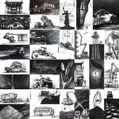 Жаркий черно-белый месяц #inktober #inktober2017 #ArtRi4ik #artri4ik_inktober2017 #sketchmarkers #sketching #sketch #touch #sakurainktober #PigmaMicron