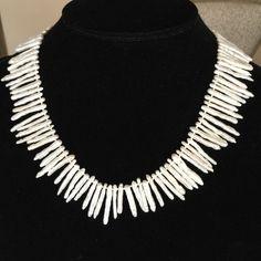 """SWD Jewelry - Biwa Stick Pearl Necklace, 16.5"""""""