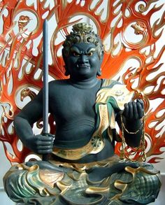 Acalanatha Ming Wong 不動明王 ; 梵文:अचलनाथ - nothing can move his gentle heart for protecting people from evil spirits....