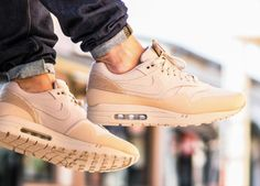 sweetsoles:  Nike Air Max 1 'Patch Pack' - Sand (by bisso97120)