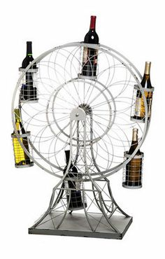 Ferris Wheel Wine Rack - not sure if I like it but a very interesting and unique piece. I can imagine this being a conversation starter at a dinner party
