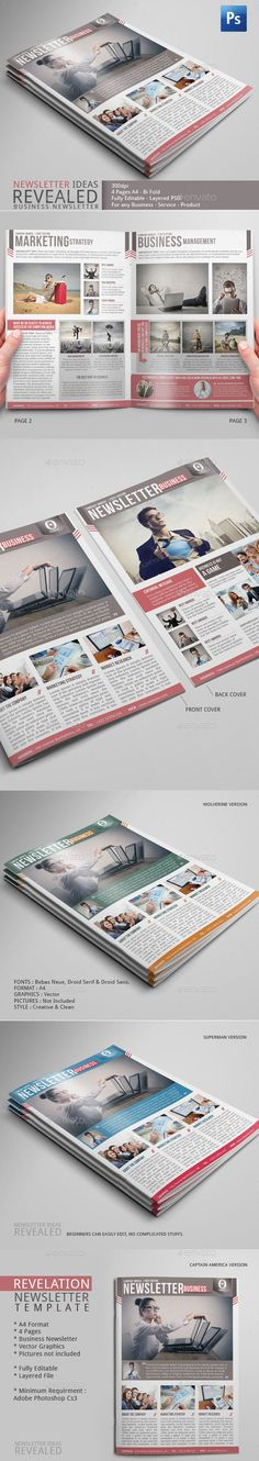 Company Newsletter Template for you to start your 2015 with a great marketing strategy. #newsletter #photoshop #template