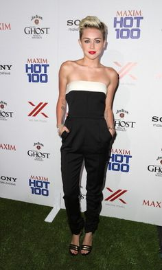 MAXIM Hot 100 Party Red Carpet Photos - Miley Cyrus