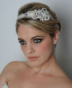 Art Deco Style Swarovski Crystal Headband- Royal Collection