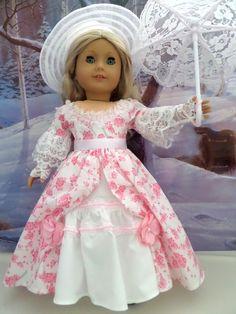 Southern Belle Ensemble Gown Petticoat Hat by JessicasDollCloset