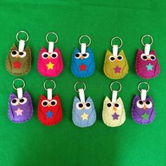 Owl Keyrings Available Online To Buy From Chilli Pepper Felt For A Great Deal On Owl Keyrings Or Any Other Unique Handmade Craft Gifts And Creative Gift Ideas Visit Stallandcraftcollective.co.uk #1096