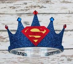 Superman crown superman birthday crown superman headband boy birthday crown first birthday crown baby boy birthday crown superhero crown Superman Party, Superman Birthday, Superhero Party, First Birthday Crown, Baby Boy Birthday, Diy Birthday, Birthday Crowns, Make A Crown, Birthday Pictures