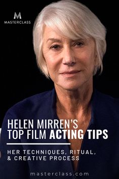 Helen Mirren's Top Film Acting Tips: Learn the Difference Between Stage and Sc. Acting Lessons, Acting Class, Drama Class, Acting Tips, Acting Skills, Voice Acting, Best Acting Schools, Drama Drama, Drama School