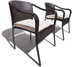 Strathwood Padre All-Weather Wicker Stackable Chair, Set of 2