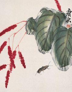 齐白石 花卉蝼蛄 29.2×22.7cm