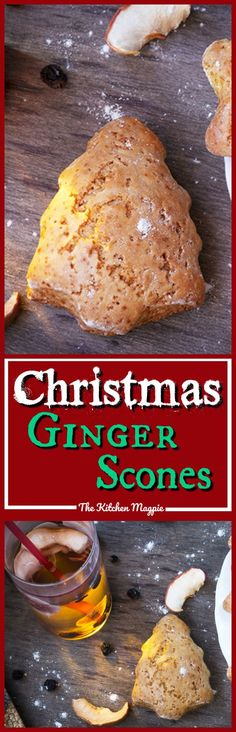 Amazing ginger tea scones that can be cut into adorable Christmas shapes! Perfect for snacking, afternoon tea and rainy days all throughout the year though!