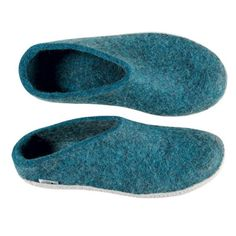 8b5a7a895ff3 Buy Glerups Felt Mule - Petrol from Hus   Hem. The Glerups mule is the  perfect slip-on slipper