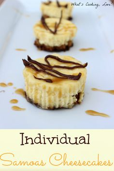 Individual Samoas Cheesecakes - Whats Cooking Love?