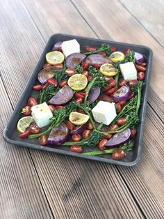 Roasted Vegetables & Feta - A Bee Bakes Vegetarian Side Dishes, Vegetarian Recipes, Baked Vegetables, Summer Bbq, Fresh Herbs, Food Print, Feta, Appetizers, Soup