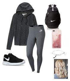 """School outfit"" by natalielaine77 on Polyvore featuring Victoria's Secret, NIKE and Alex and Ani"