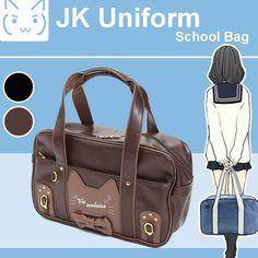081adf63f3e9 Japanese Cosplay Cute Cat JK Uniform Shoulder School Book Bag Lolita Handbag