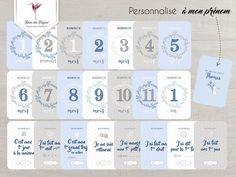 Set de cartes photos première année pour bébé garçon bleu   Etsy Satin Bleu, Blue Satin, Caption For Yourself, Birth Gift, First Tooth, Baby Album, Jolie Photo, Baby Names, Photo Cards