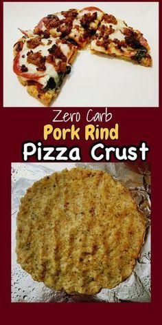 Zero carb pork rind pizza