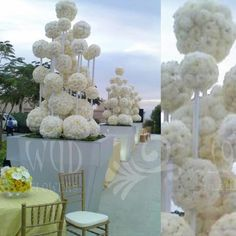 We absolutely love the creativity of these centerpieces! Reception Decorations, Event Decor, Flower Decorations, Wedding Centerpieces, Wedding Table, Diy Wedding, Dream Wedding, Floral Wedding, Wedding Flowers