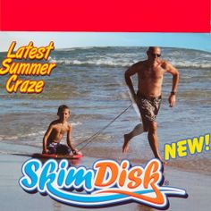 SkimDisk in action. Also used as a float and boogie board. Quite fun!