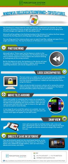 5 great upcoming Features of Windows Phone 8.1 Infographic