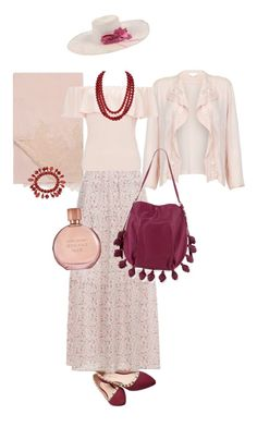 """""""sensuous nude"""" by tenuanet ❤ liked on Polyvore featuring Valentino, Wet Seal, Ghost, New Look, Miss Selfridge, Mixit, Cynthia Rowley and Estée Lauder"""
