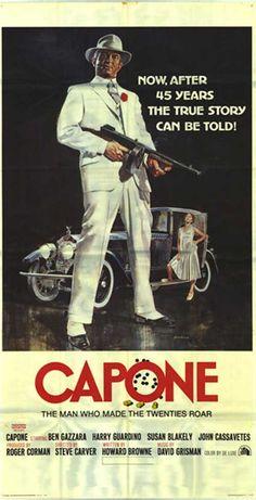 Capone (1975) Dir. by Steve Carver; Written by Howard Browne; Starring Ben Gazzera as Al Capone; Harry Guardino as Johnny Torrio and Susan Blakely as Iris Crawford #GangsterMovie #GangsterFlick