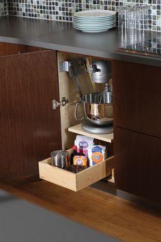 Charming Heavy Mixer Storage Cabinet From Dura Supreme Cabinetry With Lift Assitance  For Easy Access · Loft StorageStorage DesignKitchen ... Part 32