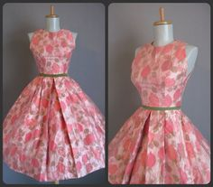 Pink retro dress.