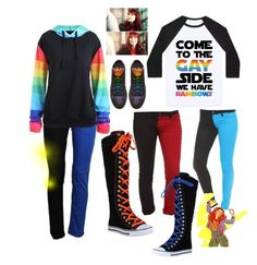 Based off of the amazing Charlie Bradbury! Pride Outfit, Pansexual Pride, Imagenes My Little Pony, Lgbt Love, Cool Outfits, Fashion Outfits, Pride Parade, Cosplay Outfits, Gay Pride