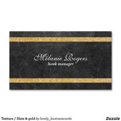 Texture / Slate & gold Standard Business Card #luxury #gold #slate #premiumbusinesscards #highendfashion #businessowner