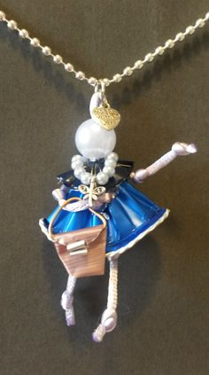 by RobeDiRoby.it Cute Jewelry, Jewelry Crafts, Beaded Jewelry, Tin Can Man, Nescafe, Diy Crafts, Pendant Necklace, Pearls, Dolls